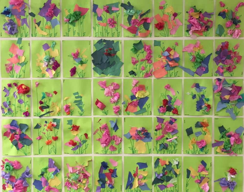 Spring Torn Paper Flower Garden Play Free And Create
